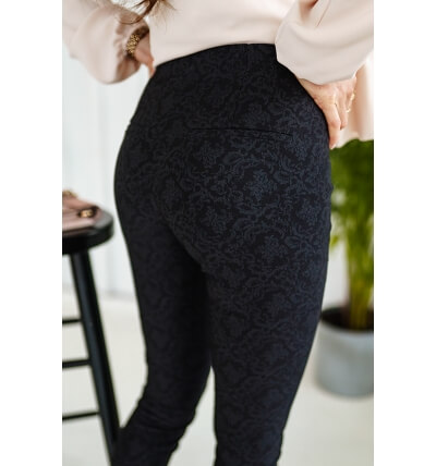 Trousers high waist pattern3