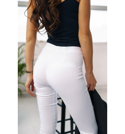 Trousers high waist white