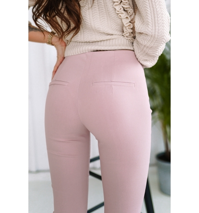 Trousers high waist dirty pink
