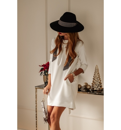 Colin dress white