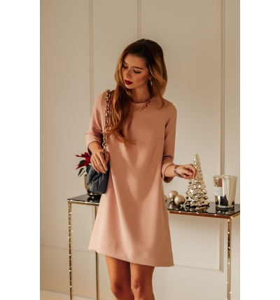 Colin dress dirty pink