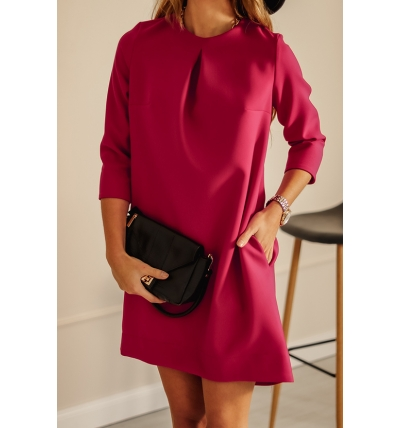 Colin dress dark pink