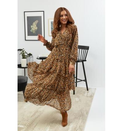 Sukienka falbany wzór2
