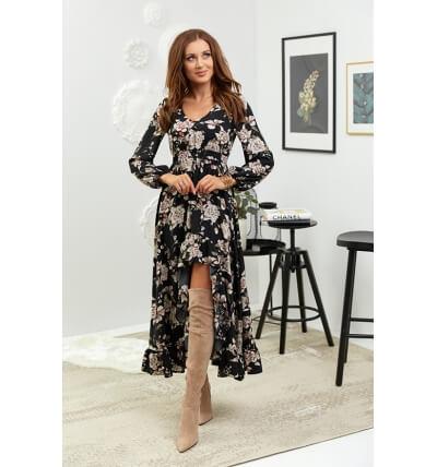 Asymmetrical maxi dress,...