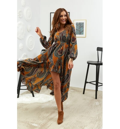 Asymmetrical maxi dress...