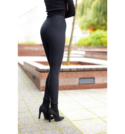 High leggings pants black
