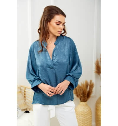 Pearl blouse denim