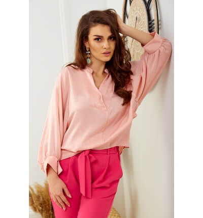 Pearl blouse powder pink