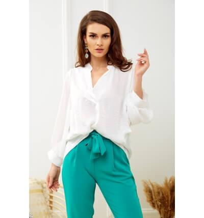 Pearl blouse white