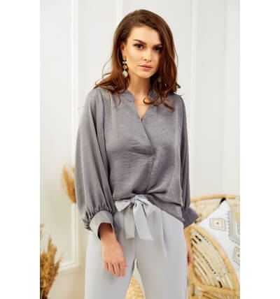 Pearl blouse graphite