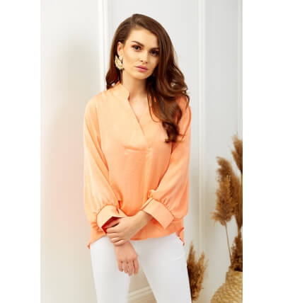 Pearl blouse orange