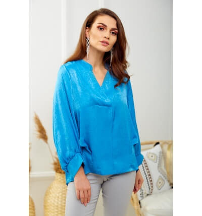 Pearl blouse blue