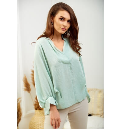 Pearl blouse mint