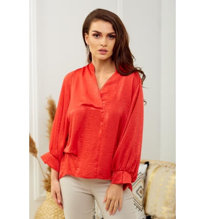 Pearl blouse red