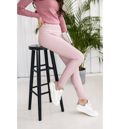 High leggings pants dirty pink